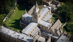 Christ Church Cathedral , Oxford from the air