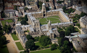 Christ Church College Oxford University from the air