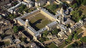 Christ Church College  , Oxford from the air