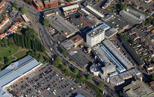 Cowley Centre Oxfordshire from the air