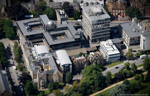 Denys Wilkinson Building Oxford University from the air