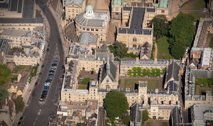 Exeter College, Oxford University aerial photograph
