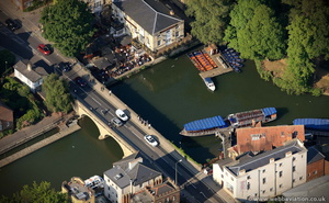 Folly Bridge Oxford from the air