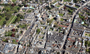Jesus College, Exeter College, & Lincoln College Oxford aerial photograph