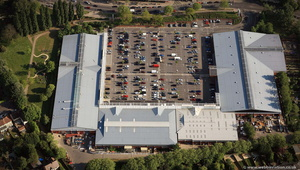 The John Allen Centre Retail park Cowley ( akaTemplars Retail Park) Oxfordshire from the air