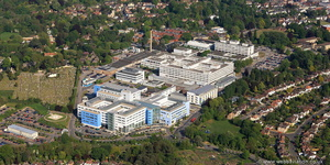 John Radcliffe Hospital Oxford UK aerial photograph