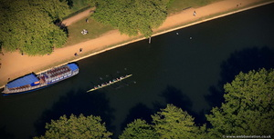 ladies eight shell on the Thames from the air