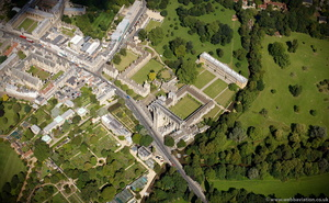 Magdalen College, Oxford from the air