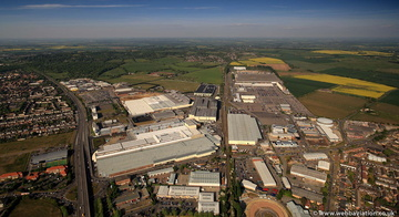 Mini Factory oxford from the air