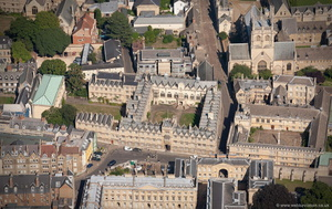Oriel College, Oxford aerial photograph