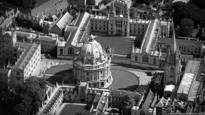 Radcliffe Camera Oxford University England from the air