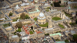Oxford England from the air