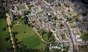 Oxford 'the city of dreaming spires' aerial photograph