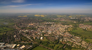 Oxford UK aerial photograph