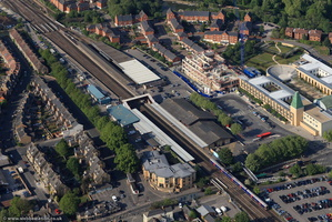 Oxford railway station from the air