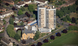 Plowman Tower Oxford UK aerial photograph