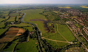 Port Meadow, Oxford from the air