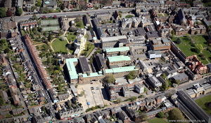 Radcliffe Infirmary Oxford  aerial photograph