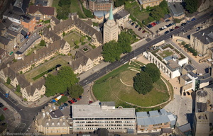 Oxford Castle  aerial photograph