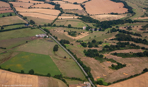 Tadmarton Camp bivallate fort from the air
