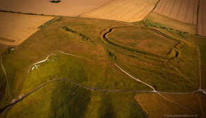 Uffington Castle aerial photograph