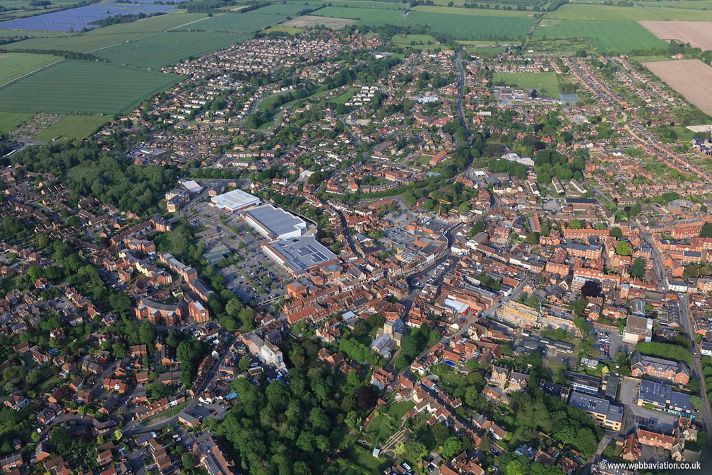 Wantage , Oxfordshire aerial photograph
