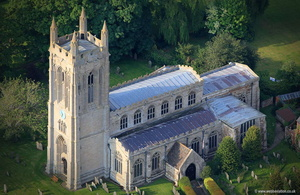 St Andrew's Church  Whissendine Rutland  aerial photograph