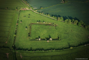 Whissendine Moat Rutland  aerial photograph