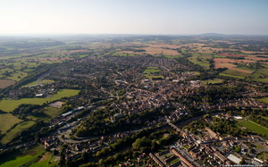 Bridgnorth from the air