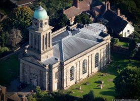St. Mary Magdalene's Church, Bridgnorth from the air