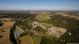 Caravan Parks along the River Severn  from the air