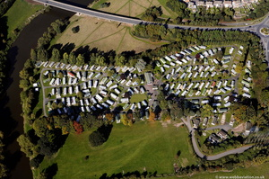 The Riverside Caravan Park  from the air