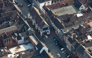 Town Hall Bridgnorth from the air
