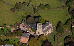 Broseley All Saints Church town from the air