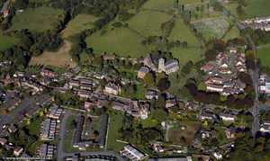 Broseley town from the air