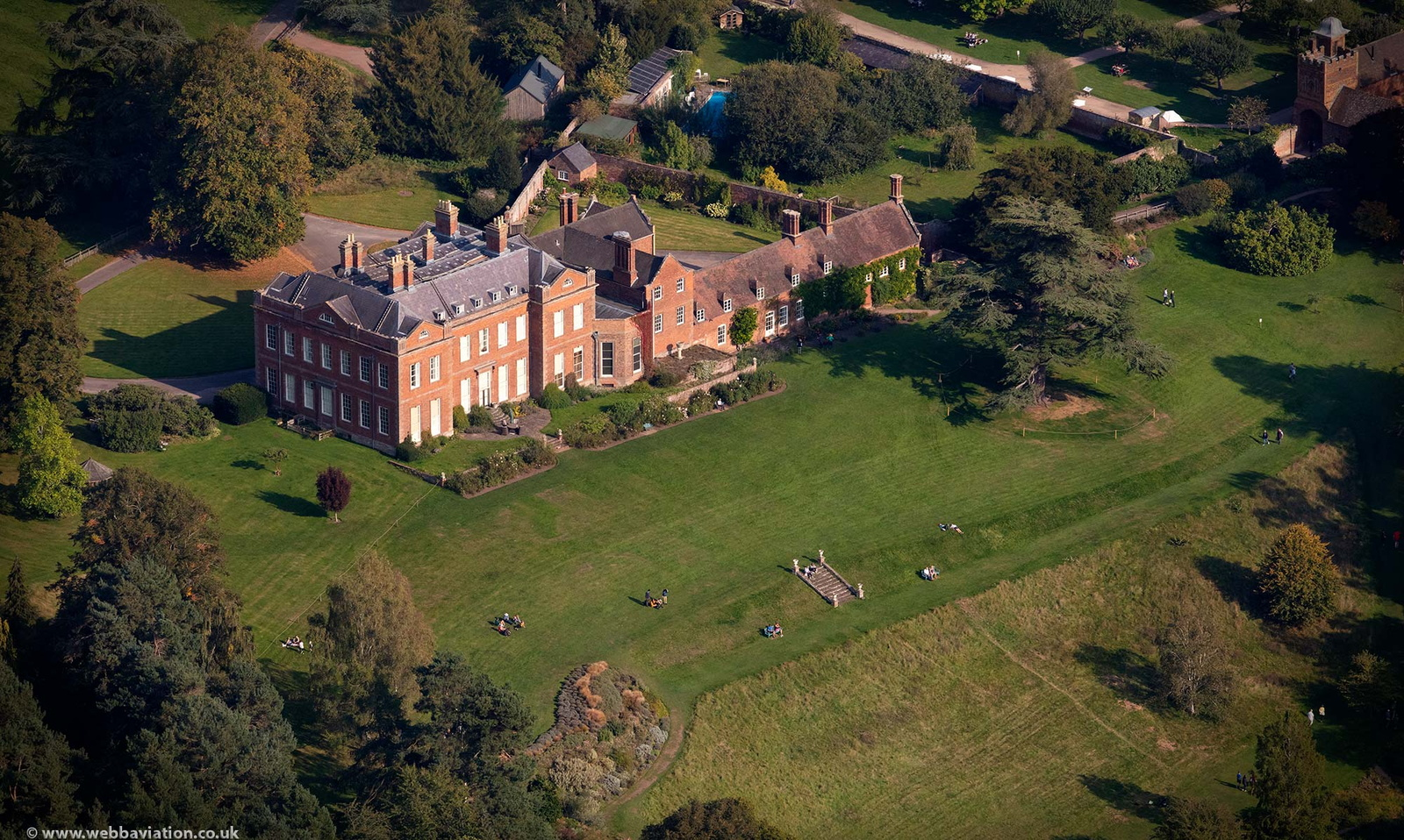 Dudmaston Hall Quatt Shropshire from the air