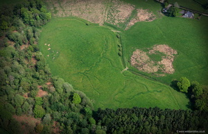 WWI , World War 1 practice trenches at Iron Mills Shropshire   aerial photograph