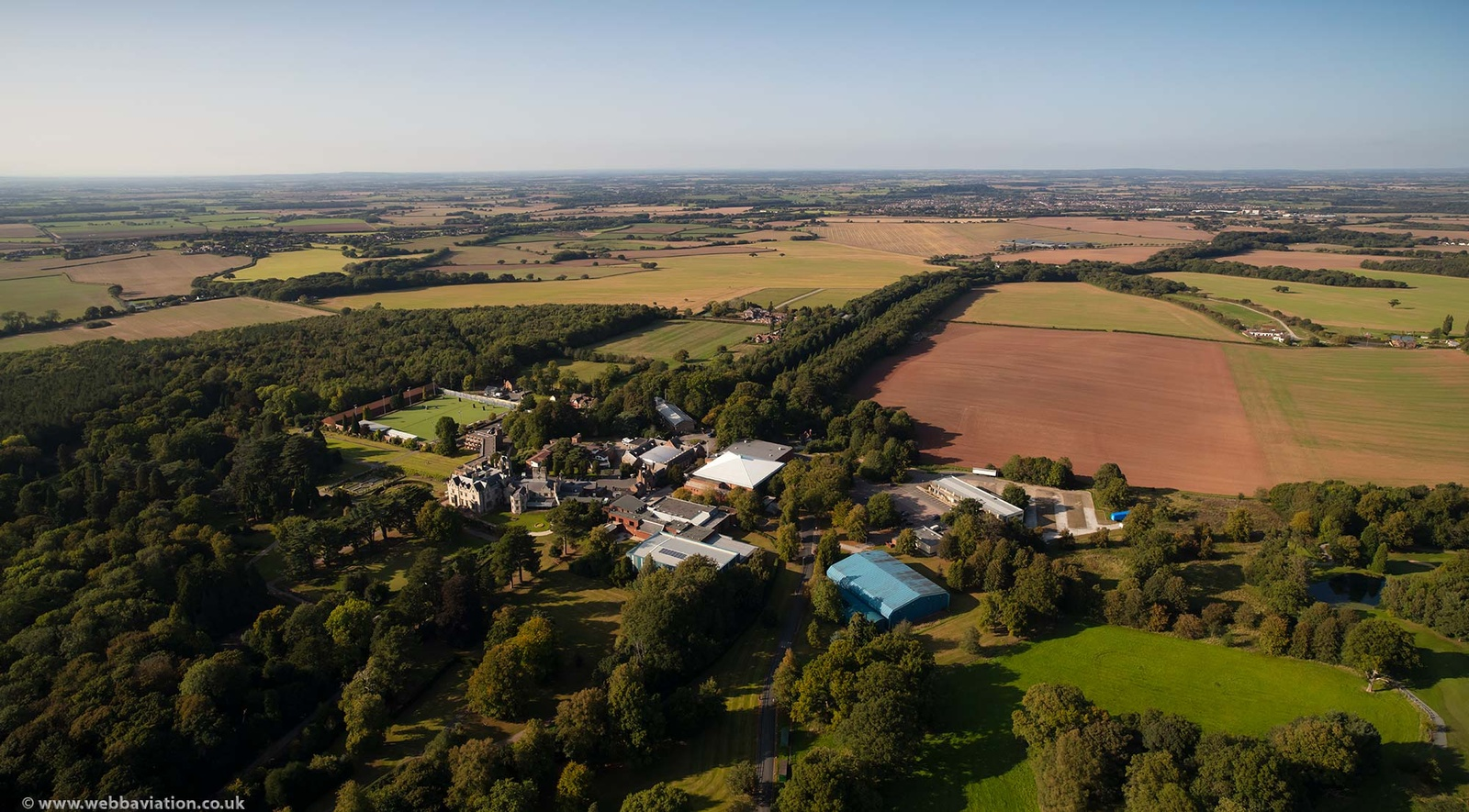 Lilleshall Hall National Sports Centre from the air