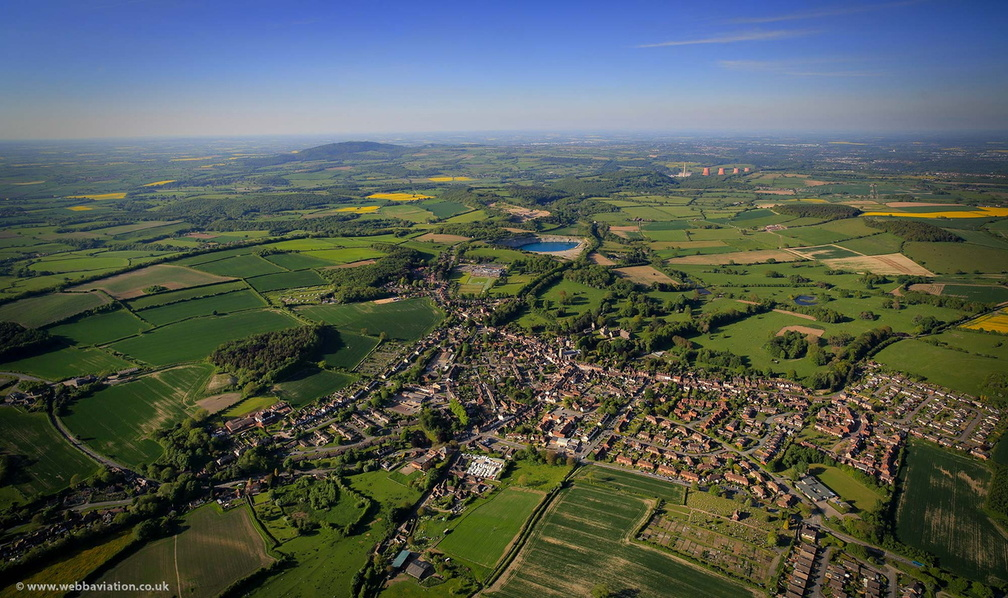 Much Wenlock from the air