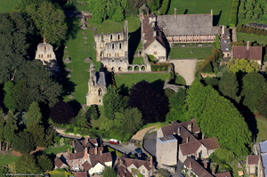 Wenlock Priory from the air