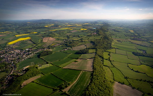 Wenlock Edge limestone escarpment from the air