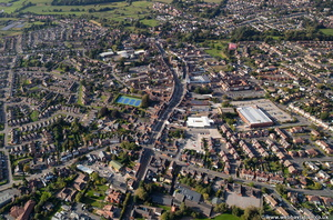 Newport Shropshire  town centre  from the air
