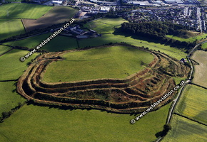 Old Oswestry iron age hillfort   Oswestry Shropshire  England UK aerial photograph
