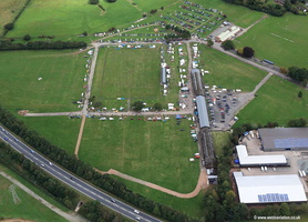 car boot sale Oswestry Showground  aerial photograph