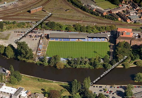 Gay Meadow football ground Shrewsbury   aerial photograph