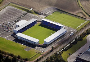 New Meadow football stadium Shrewsbury   aerial photograph