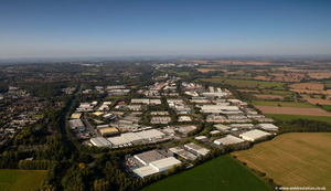 Halesfield Industrial Estate  from the air