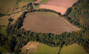 The Walls multivallate hillfort   from the air