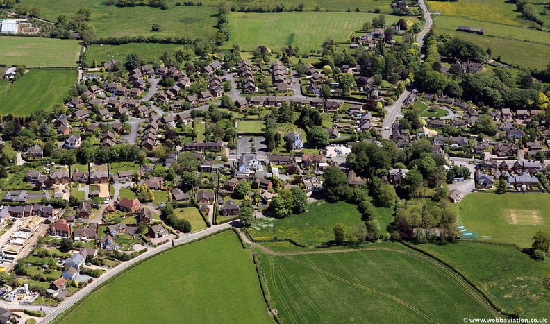 Woore Shropshire from the air