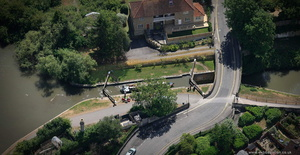 Abbey View Lock Kennet and Avon Canal Bath aerial photograph